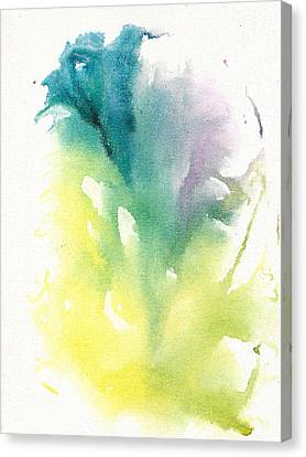 Canvas Print featuring the painting Morning Glory Abstract by Frank Bright