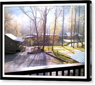 Canvas Print featuring the digital art Morning Glory At Ironhorse Resort by Angelia Hodges Clay