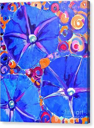 Morning Glory Flowers Canvas Print by Ana Maria Edulescu