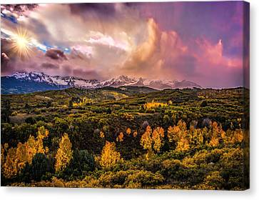 Canvas Print featuring the photograph Morning Glory by Ken Smith