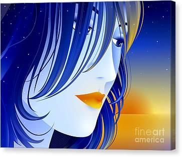 Morning Glory Canvas Print by Sandra Hoefer