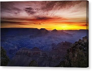 Morning Glow At The Canyon Canvas Print