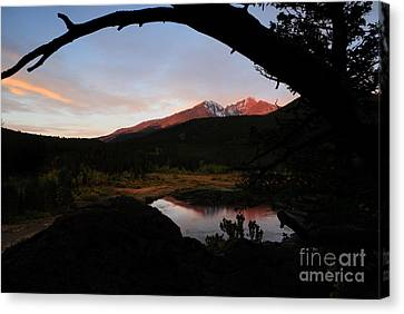 Morning Glow On Mountain Peaks Canvas Print