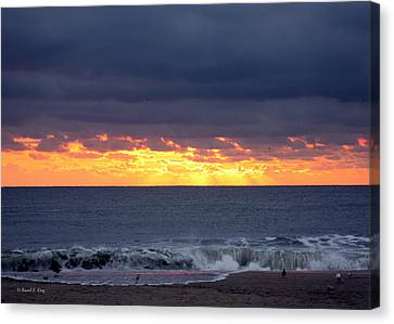 Morning Glow Canvas Print by Russell  King