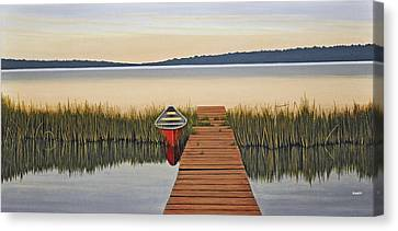 Canvas Print featuring the painting Morning Has Broken by Kenneth M  Kirsch