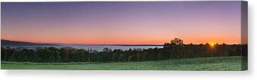 Buffalo Canvas Print - Morning Has Broken Over A Misty Valley Narrow by Chris Bordeleau