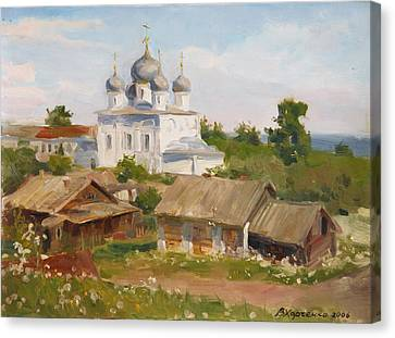 Old Time Canvas Print - Morning In Belozersk by Victoria Kharchenko
