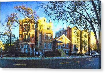 Morning In Bucktown Canvas Print by Dave Luebbert