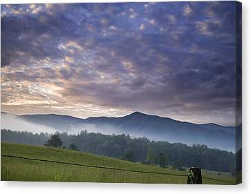 Morning In Cades Cove Canvas Print by Andrew Soundarajan