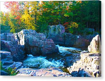 Morning In Eau Claire Dells Canvas Print by Tiffany Erdman