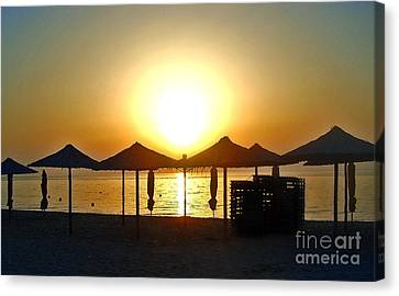 Morning In Greece Canvas Print