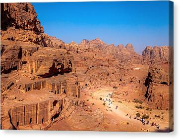 Morning In Petra Canvas Print by Alexey Stiop
