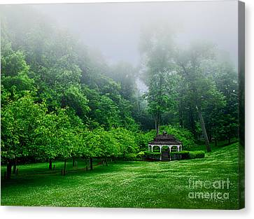 Morning In The Park Canvas Print by Mark Miller