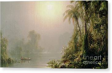 Morning In The Tropics Canvas Print by Frederic Edwin Church