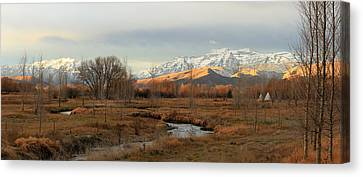 Morning In The Wasatch Back. Canvas Print by Johnny Adolphson