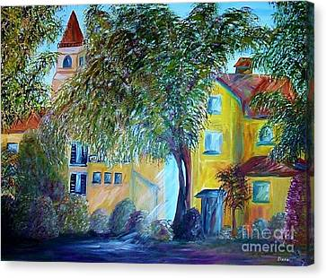 Canvas Print featuring the painting Morning In Tuscany by Eloise Schneider