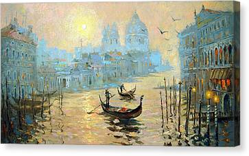 Morning In Venice Canvas Print by Dmitry Spiros
