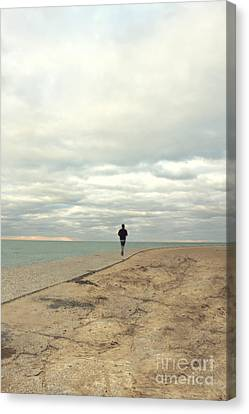 Jogging Canvas Print - Morning Jog by Margie Hurwich