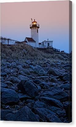 Morning Light - Eastern Point Lighthouse Canvas Print by Joann Vitali