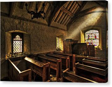 Morning Light In The Old Chapel Canvas Print by Mal Bray