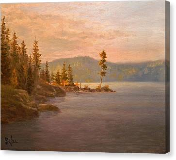Morning Light On Coeur D'alene Canvas Print
