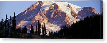 Wa Canvas Print - Morning Light On Mt. Rainier by Panoramic Images