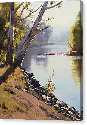 Morning Light Tumut River Canvas Print by Graham Gercken