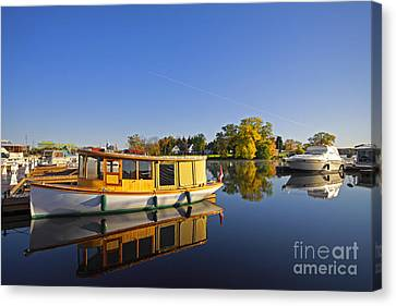 Morning Marina Canvas Print by Charline Xia