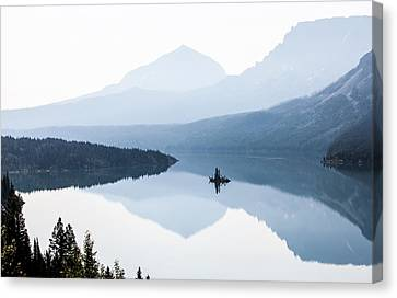 Canvas Print featuring the photograph Morning Mist by Aaron Aldrich