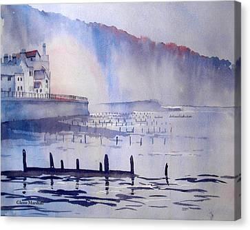 Morning Mist At Sandsend Canvas Print