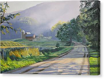 Morning Mist Canvas Print by Kenneth Young