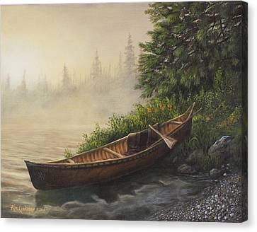 Canvas Print featuring the painting Morning Mist by Kim Lockman