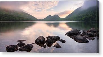 Morning Mist On Jordan Pond, Acadia Canvas Print