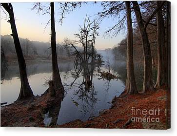 Morning Mist On The Blanco Canvas Print by Richard Mason