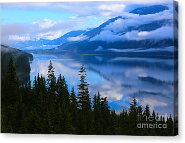 Morning Mist Rising Canvas Print by Marty Fancy