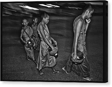 Morning Monks Canvas Print by David Longstreath