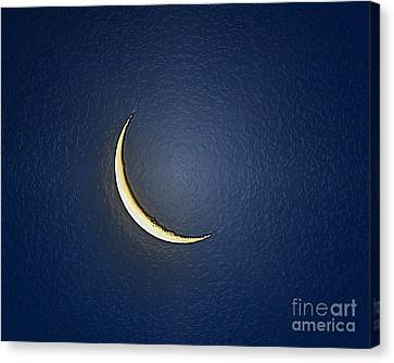 Morning Moon Textured Canvas Print by Al Powell Photography USA