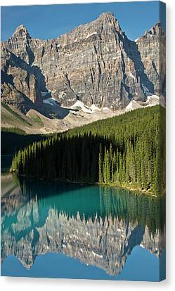 Morning, Moraine Lake, Reflection Canvas Print