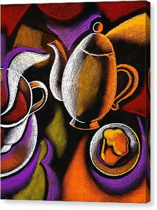 Morning Muffin Canvas Print by Leon Zernitsky