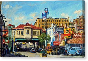 Morning On 231st Street The Bronx Canvas Print