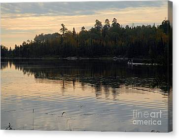 Morning On Boot Lake Canvas Print by Larry Ricker