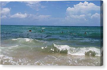Morning On Boynton Beach 3 Canvas Print by Shawn Lyte