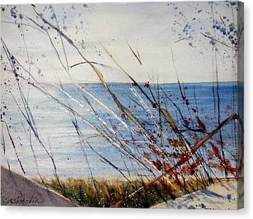 Morning On Lake Michigan Canvas Print