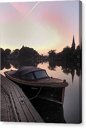 Morning On The Amstel Canvas Print by Cristel Mol-Dellepoort