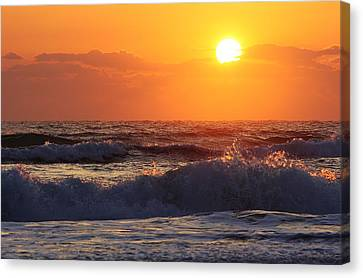 Morning On The Beach Canvas Print by Bruce Bley