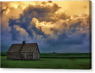 Morning On The Farm - Nebraska Sunrise Canvas Print