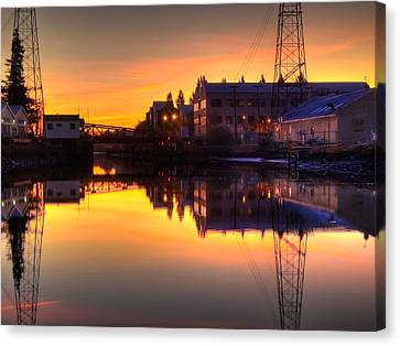 Morning On The River Canvas Print by Bill Gallagher