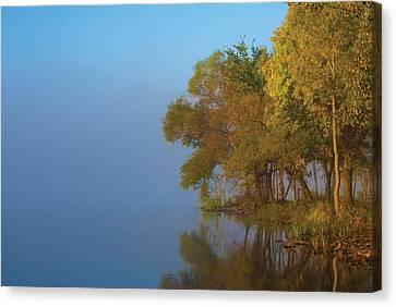 Morning On The Saganashkee Canvas Print by Larry Bohlin