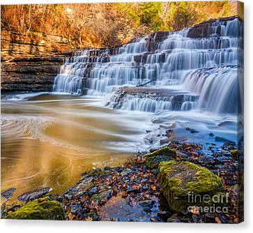 Morning On The Upper Falls Canvas Print by Anthony Heflin