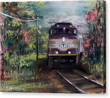 Morning Outbound Canvas Print by Jack Skinner